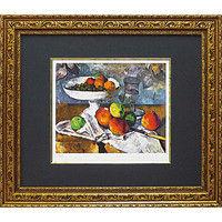 ユーパワー ミュージアム シリーズ(シグレー版画)セザンヌイ「果物ナイフのある静物」 MW-18066(直送品)