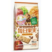 毎日果実 アップル&マンゴー 1袋(3枚×5袋) 江崎グリコ 栄養補助食品