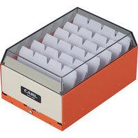 カール事務器 カードファイルケース オレンジ 名刺収容400枚 CFC-400-O 3個(直送品)