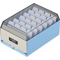 カール事務器 カードファイルケース ライトブルー 名刺収容400枚 CFC-400-T 3個(直送品)