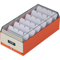 カール事務器 カードファイルケース オレンジ 名刺収容600枚 CFC-600-O 2個(直送品)