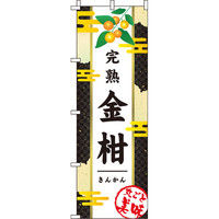 イタミアート 金柑(きんかん) 和 黒 のぼり旗 0100204IN(直送品)