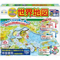 ハナヤマ ゲーム&パズル世界地図 57264(直送品)