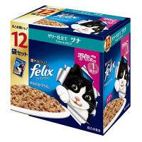 フィリックス(felix)猫用 やわらかグリル 子ねこ用 ゼリー仕立て ツナ 12袋 1個 ネスレ日本
