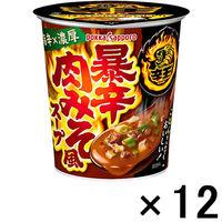 ポッカサッポロ 辛王暴辛肉みそ風スープ 12個
