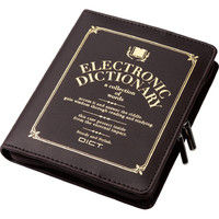 エレコム 電子辞書ケース/フルカバータイプ/デザイン/Lサイズ/ブラウン DJC-021LBR 1個(直送品)