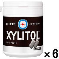 ロッテ キシリトールガム ブラックミント ファミリーボトル 1セット(6個)