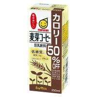 マルサンアイ 豆乳飲料 麦芽コーヒー カロリー50%オフ 200X12