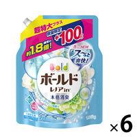P&G ボールド フレッシュピュアクリーンの香り 超特大サイズ増量 つめかえ用 1360g 1セット 6個:1個×6