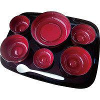 大成樹脂工業 自立支援食器IROHAフルセット ライン春慶 iroha01s 1セット(直送品)