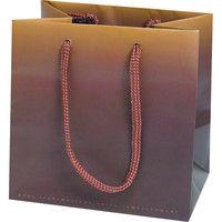ヤマニパッケージ ペーパーバッグ ショコラ SS 20-966 1ケース(200枚:25枚ポリ袋入)(直送品)