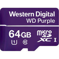 WESTERN DIGITAL WD Purple Micro SDカード 64GB WDD064G1P0A(直送品)