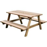 住まいスタイル レッドシダーピクニックテーブル 幅1465×奥行1400×高さ720mm 無塗装 OHPM-105 1台(直送品)