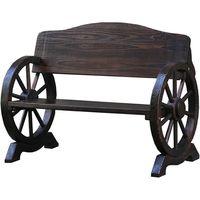 住まいスタイル 車輪ベンチ 幅1100mm ダークブラウン WB-1100 1台(直送品)