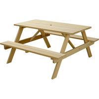 住まいスタイル イエローシダーピクニックテーブル 幅1350×奥行1390×高さ700mm ナチュラル YCPT-1350NTU 1個(直送品)