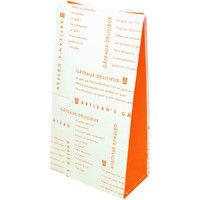 ヤマニパッケージ パティスリー角底袋 オランジェ12号 20-573 1ケース(1000枚:500枚クラフト×2個バンド)(直送品)