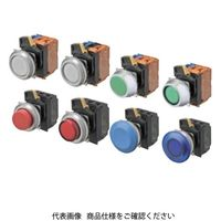 オムロン(OMRON) 押ボタンスイッチ 照光/平形 金属ベゼル 透明青 青 A30NL-MNA-TAA-P101-AC 1セット(2個)(直送品)