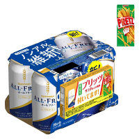 サントリー オールフリー(プリッツ付きパック) 1セット(350ml×6缶)