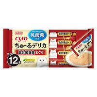いなば CIAO ちゅーる 猫用 デリカ 総合栄養食 まぐろ 乳酸菌入り(14g×12本)1袋 国産<ちゅ~る>