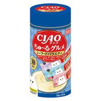 いなば チャオ(CIAO)猫用 ちゅ~るグルメ シーフードバラエティ(14g×30本)1個