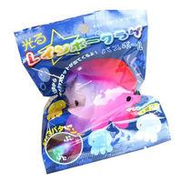 光るレインボークラゲバスボール (2個) サンタン