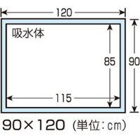 川本産業 カワモト防水シーツ 90cm×120cm 1ケース(50枚:5枚入×10袋)(取寄品)