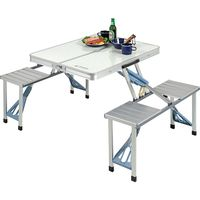 パール金属 キャプテンスタッグ ラフォーレ DXアルミピクニックテーブル UC-0009(直送品)