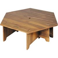 パール金属 キャプテンスタッグ CSクラシックス ヘキサセンターテーブル 96 UP-1040(直送品)