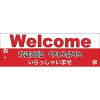 ササガワ インバウンド用店舗備品 ポスター E判 Welcome 12E1613 1冊(5枚袋入)(取寄品)