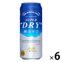 アサヒビール アサヒスーパードライ 瞬冷辛口 500ml 1パック(6缶入)