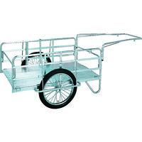 昭和ブリッジ販売 昭和 アルミ折畳みリヤカー 積載面(長さ×幅)900×600 空気入タイヤ S8-A1 1台 239-4618(直送品)