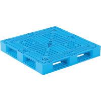 サンコー プラスチックパレット 812200 D4-1111-12ライトブルー SK-D4-1111-12-BL 459-3961(直送品)