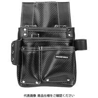 藤原産業 SK11 カーボンレザー釘袋 SK-CLK-Hブラック 1個(直送品)