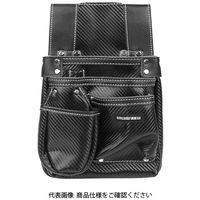 藤原産業 SK11 カーボンレザー釘袋 SK-CLK-SPブラック 1個(直送品)