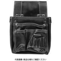 藤原産業 SK11 カーボンレザー釘袋 SK-CLK-BPブラック 1個(直送品)