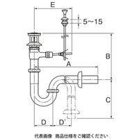 LIXIL(リクシル) 床排水Sトラップ 洗面器用(プッシュワンウェイ式) LF-97SAT 1個(直送品)
