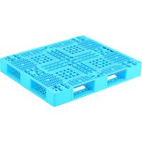 サンコー プラスチックパレット 812060 D4-102-2青 SK-D4-1012-2-BL 459-3898(直送品)