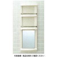 LIXIL(リクシル) 浴室収納棚 鏡付(平付) YR-412G/L52 1個(直送品)