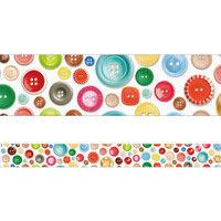 包む デザイン養生テープ メニーボタン 25mm 9-101-3 1セット(3個)(直送品)