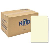 キングコーポレーション 角A4 Vカラー クリーム85g/平方m スミ貼 011015 1箱(500枚入)(直送品)