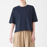 無印 天竺編みワイドTシャツ 婦人M~L