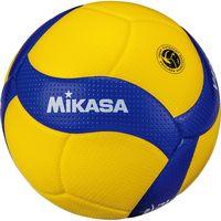 ミカサ】 中学・家庭婦人用 バレーボール4号 検定球 黄色/青色 V400W(直送品)