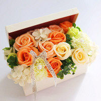 【第3のフラワーギフト】シャボンフラワー(SAVON FLOWER) ポピー名古屋 ハーモニー オレンジ SBL-115 1個(直送品)