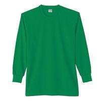 【ワークウェア・作業用ポロシャツ】小倉屋 DRYシリーズ DRY 長袖Tシャツ グリーン 9009-30-L 1枚(直送品)