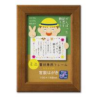 大仙 ミニカノエ 官製はがき ブラウン 33J635M0101 10個(直送品)