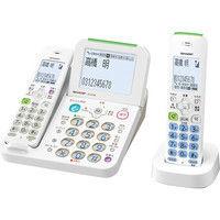 シャープ デジタルコードレス電話機 子機1台タイプ ホワイト JD-AT85CL(直送品)