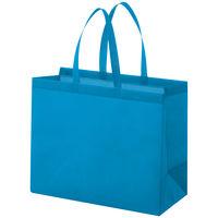 丸紅フォレストリンクス 不織布手提げ袋 マチ広タイプ セルリアンブルー L 幅430×高さ350×マチ幅200mm 1袋(10枚入)