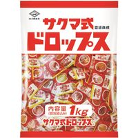 佐久間製菓 サクマ式ドロップ 1袋(1kg:約310粒入)