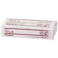 ペーパータオル タウパーフォレスM シングル 再生紙 1個(200枚入) 日本製紙クレシア