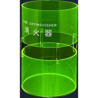 消火器ボックス 据置型 蛍光グリーン SK-FEB-FG330(直送品)